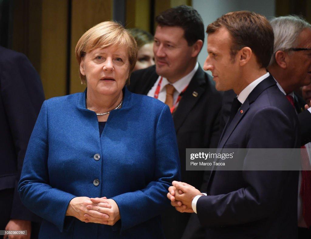 German Chancellor Angela Merkel and former French president Nicholas Sarkozy images