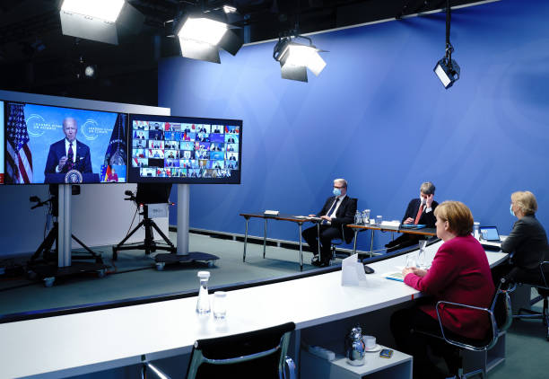 DEU: Angela Merkel Participates In Virtual Leaders Summit On Climate