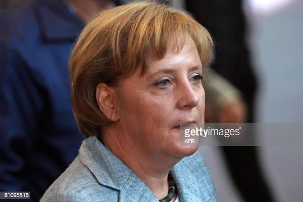 German Chancellor Angela Merkel visits the VW plant on May 15 in Sao Bernardo do Campo southern Sao Paulo Brazil Merkel is finishing a threeday...