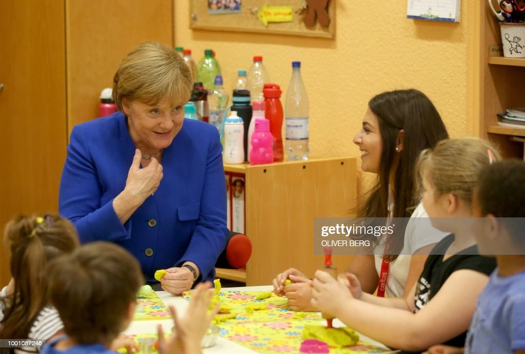 Merkel Meets Natalie Dedreux, Down Syndrome Patient