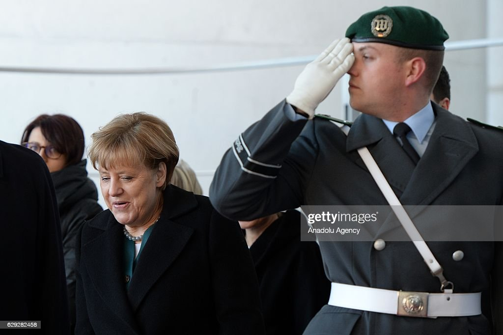 Angela Merkel-Andrej Plenkovic meeting in Berlin : News Photo