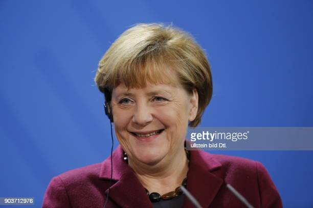 German Chancellor Angela Merkel welcomes Norwegian Prime Minister Erna_Solberg on 8 November 2016 at the Federal Chancellery After a joint work they...