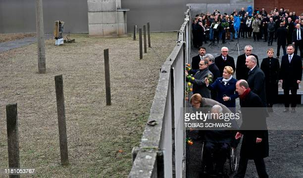 German Chancellor Angela Merkel , Wolfgang Schaeuble , president of the Bundestag , Berlin's mayor Michael Mueller , German Family Minister Franziska...