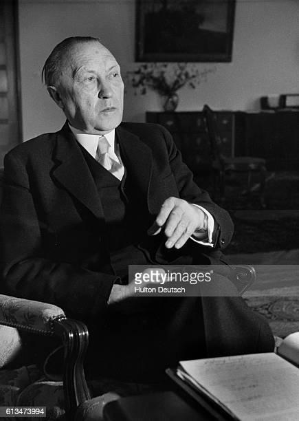 German Chancellor Dr Konrad Adenauer 1952