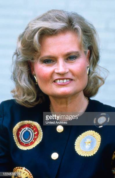 German chancellor Helmut Kohl's first wife Hannelore Kohl circa 1990