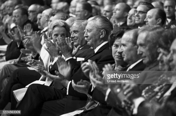 German chancellor Kurt Georg Kiesinger , during a visit at Hamburg, Germany circa 1967.