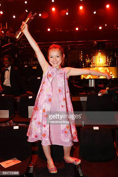 German child actress Anuk Steffen during the Lola German Film Award 2016 Show on May 27 2016 in Berlin Germany