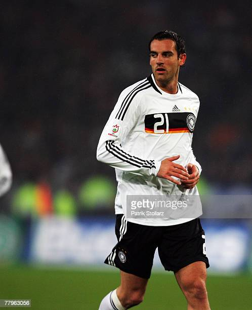 German Christoph Metzelder during the Euro 2008 Group D qualifying match between Germany and Cyprus at the WM Stadium on November 17, 2007 in...