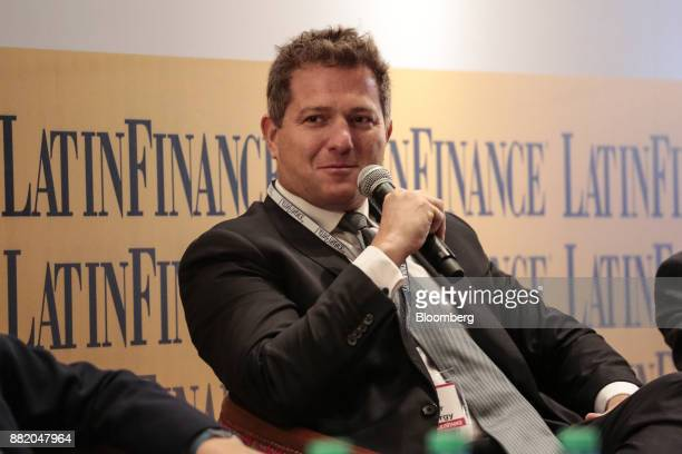 German Chullmir founder and chief executive officer of Orel Energy Group listens during the Argentina SubSovereign and Infrastructure Finance Summit...