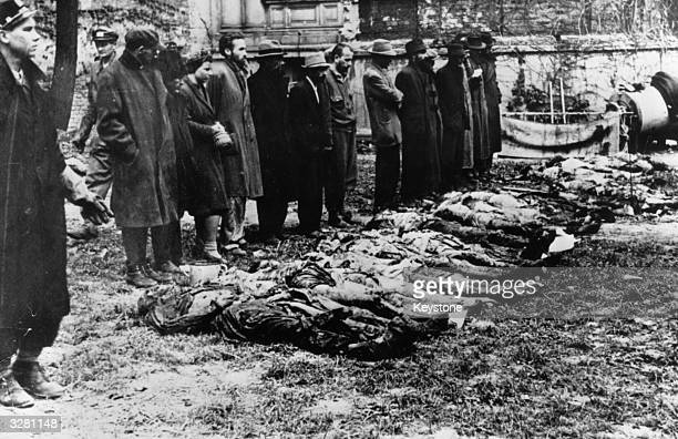 German civilians are brought to see the atrocities committed in Auschwitz concentration camp so that the truth is known