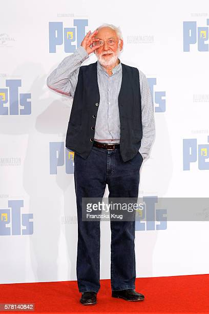 German comedian and actor Dieter Hallervorden attends the premiere of the film 'PETS' at CineStar on July 20 2016 in Berlin Germany