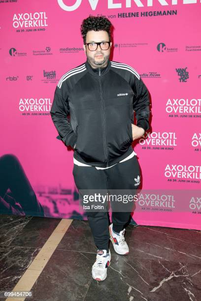 German comedian and author Oliver Polak attends the 'Axolotl Overkill' Berlin Premiere at Volksbuehne RosaLuxemburgPlatz on June 21 2017 in Berlin...