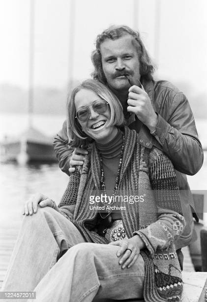 German comedian and dentist Guenter Willumeit and his wife Karin, Germany late 1970s.