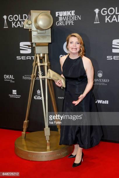 German comedian Annette Frier arrives for the Goldene Kamera on March 4 2017 in Hamburg Germany