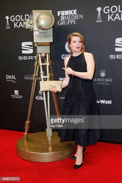German comedian Annette Frier arrives for the Goldene Kamera on March 4, 2017 in Hamburg, Germany.