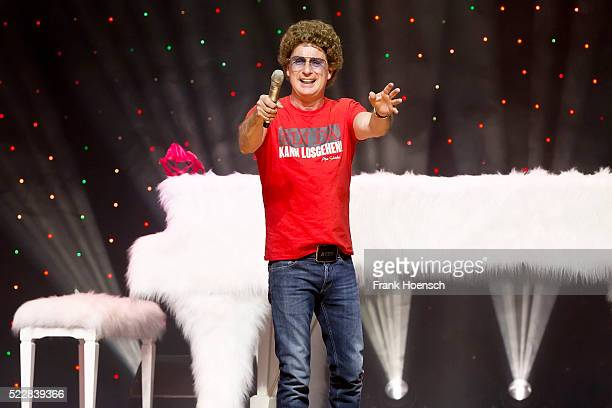 German Comedian Atze Schroeder performs live at the Tempodrom on April 17 2016 in Berlin Germany