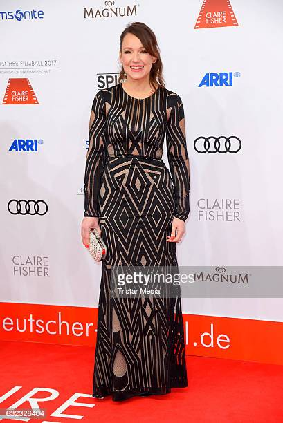 German comedian Carolin Kebekus attends the German Film Ball 2017 at Hotel Bayerischer Hof on January 21 2017 in Munich Germany