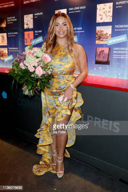 German comedian Enissa Amani during the German Computer Games Award 2019 at Admiralspalast on April 9 2019 in Berlin Germany
