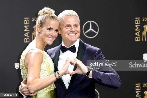 German comedian Guido Cantz and his wife Kerstin Cantz attend the 70th Bambi Awards at Stage Theater on November 16 2018 in Berlin Germany