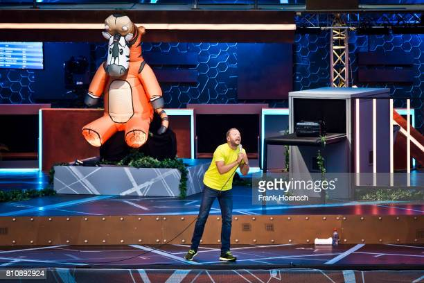 German comedian Mario Barth performs live during his show at the Waldbuehne on July 8 2017 in Berlin Germany