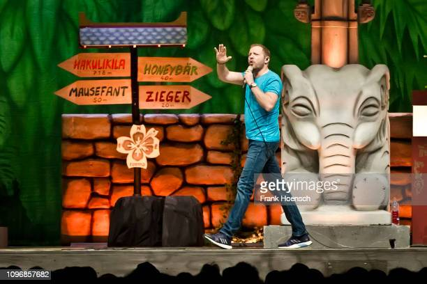 German comedian Mario Barth performs live on stage during his show at the MercedesBenz Arena on January 19 2019 in Berlin Germany