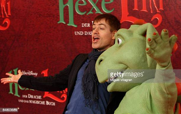 German comedian Michael Mittermeier poses for the media during the premiere of the movie 'Lilli The Witch The Dragon And The Magical Book' on...