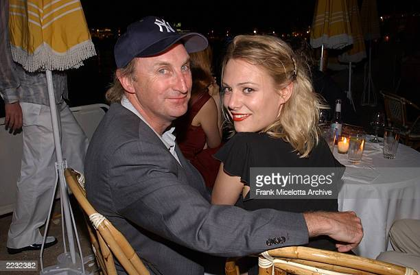 German comedian Otto Waalkes and his wife at the party for 'Scorched' at the 55th Cannes Film Festival in Cannes France May 17 2002 Photo by Frank...