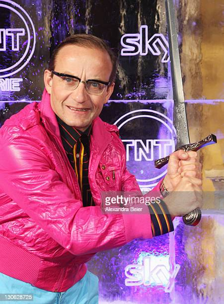 German comedian Wiegald Boning attends 'Games of Thrones' Preview Event of TNT Serie and Sky at Hotel Bayerischer Hof on October 27, 2011 in Munich,...