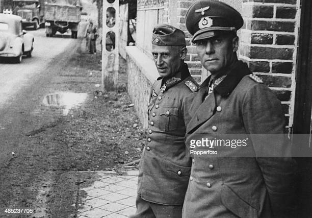 German commander of the 7th Panzer Division Erwin Rommel with XV Army Corps commander Hermann Hoth during the invasion of France June 1940