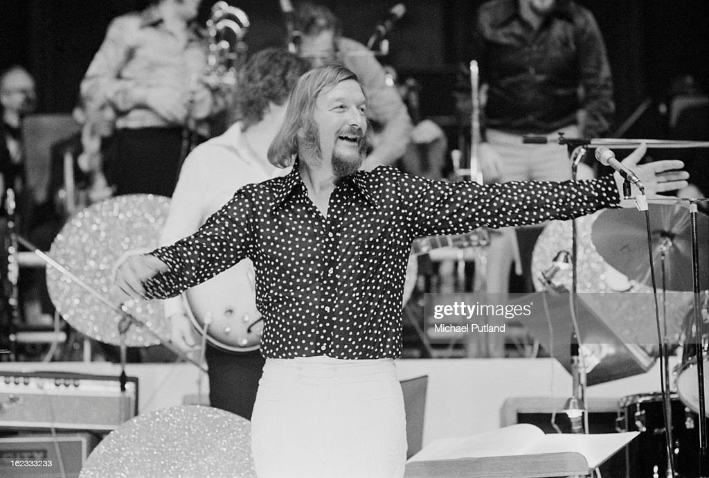 German composer and big band leader James Last performing at the Royal Albert Hall, London, 1972.