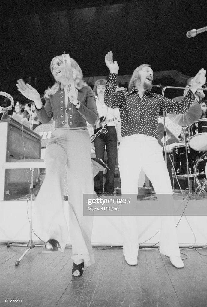 German composer and big band leader James Last (right) performing at the Royal Albert Hall, London, 1972.
