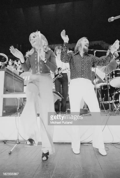 German composer and big band leader James Last performing at the Royal Albert Hall London 1972