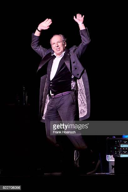 German composer and musician Hans Zimmer performs live during a concert at the MercedesBenz Arena on April 20 2016 in Berlin Germany