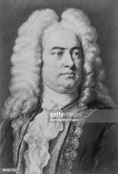 German Composer Georg Friedrich Haendel. Around 1740. [Georg Friedrich Haendel, deutscher Komponist, * 1685, 1759; schrieb zunaechst italienische...