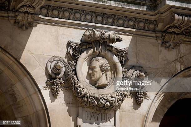 German composer Joseph Haydn on the exterior of the Opera Garnier Paris France The Palais Garnier is a 1979seat opera house which was built from 1861...