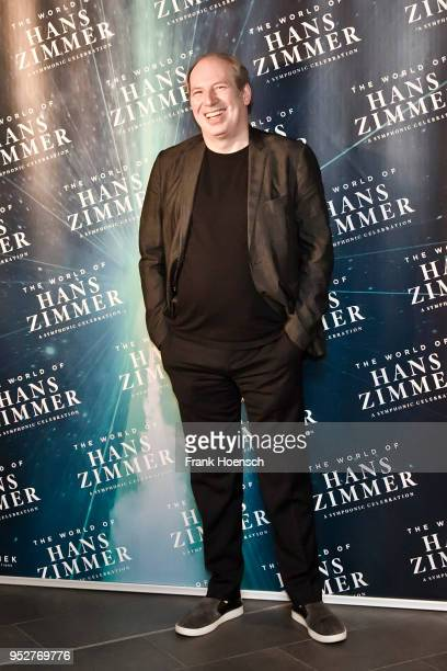 German composer music producer and musician Hans Zimmer poses during a press conference about his show 'The World of Hans Zimmer' at the MercedesBenz...