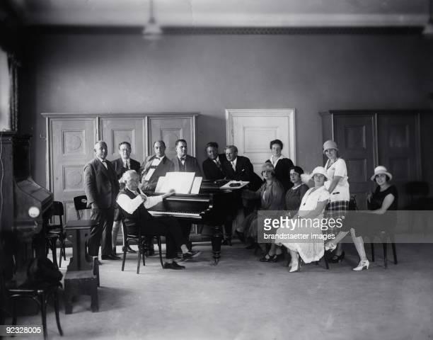 "German composer Richard Strauss at the rehearsal for ""Ariadne auf Naxos"" . Salzburg Festival. Photograph. 1926"