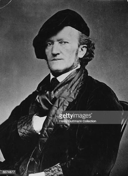 German composer Richard Wagner circa 1868