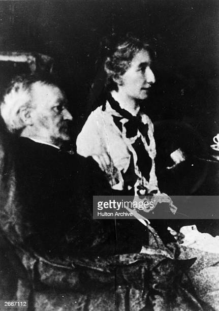 German composer Richard Wagner with his wife Cosima