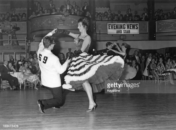 German contestants Karl and Ursula Breuer win second place at the World Ballroom Dancing Championships at Hammersmith Palais in London 3rd May 1961