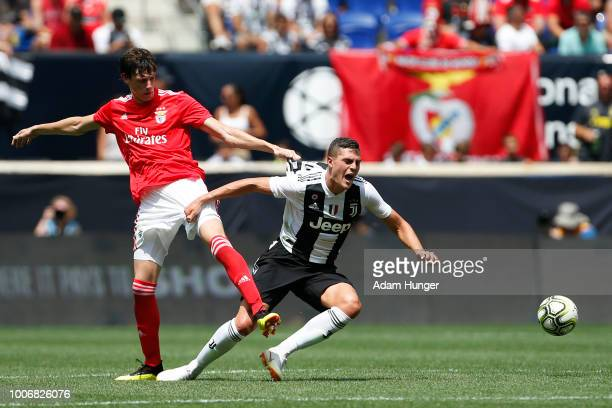 German Conti of Benfica is called for a foul on Andrea Favilli of Juventus during the International Champions Cup 2018 match between Benfica and...