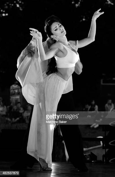 German Cornejo and Gisela Galeassi of Argentina open the Sadler's Wells Presents programme with a tango performance at the Latitude Festival at...