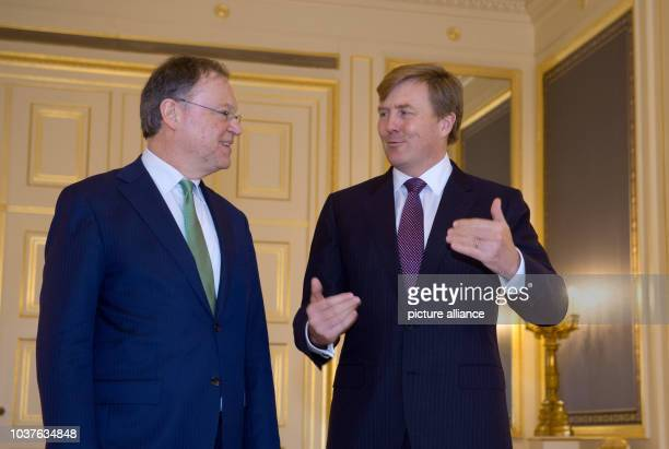 German Council Chairman and Prime Minister of Lower Saxony Stephan Weil is received for an audience by King Willem Alexander of the Netherlands in...