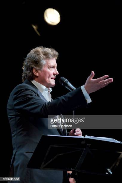 German countertenor Jochen Kowalski performs live during a concert at the Tipi Zelt am Kanzleramt on January 29 2014 in Berlin Germany