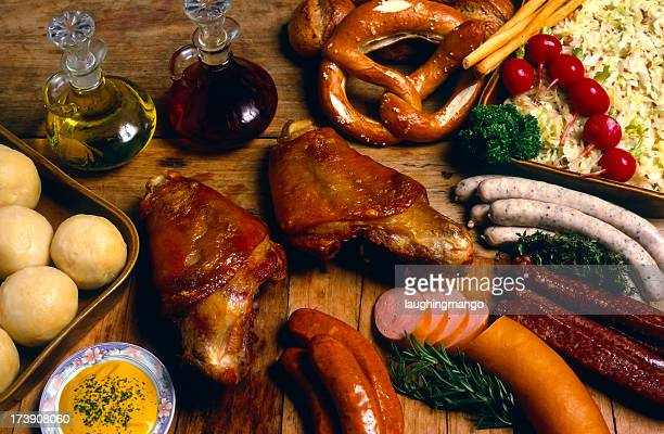 german cuisine roast pork shank sausage red meat