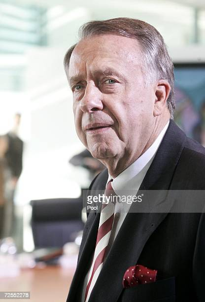 German Culture minister Bernd Neumann attends the weekly German government cabinet meeting at the Chancellery November 15, 2006 in Berlin, Germany.