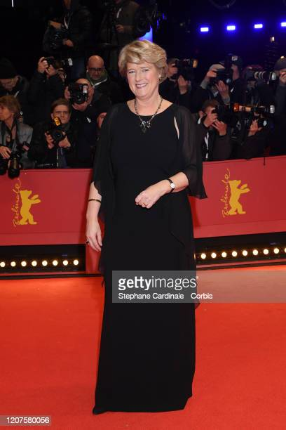 """German Culture minister Monika Gruetters arrives for the opening ceremony and """"My Salinger Year"""" premiere during the 70th Berlinale International..."""