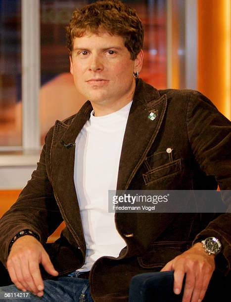 German cyclist Jan Ullrich attends the Johannes B Kerner Television Show on November 07 2005 in Hamburg Germany