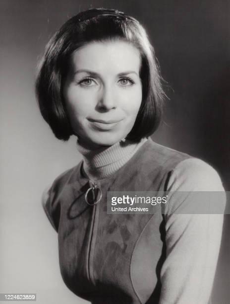 German dancer and actress Monika Madras, Germany, late 1960s. .