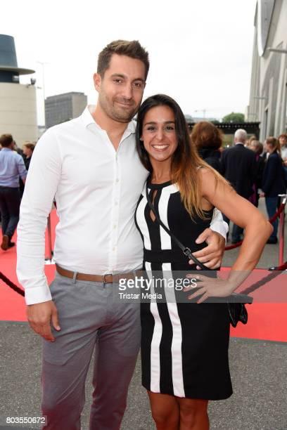 German dancer Melissa Ortiz-Gomez and her boyfriend Benjamin Fazio attend the 'Billy Elliott - The Musical' Hamburg Premiere at Mehr Theater on June...